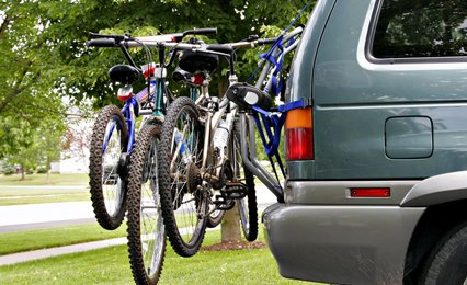 We stock a wide range of cycle carriers, and we fit them too.